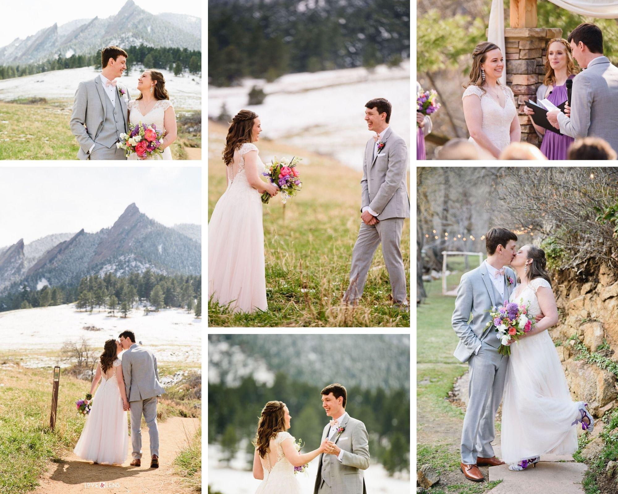 Mountainside Winter Wedding in Colorado