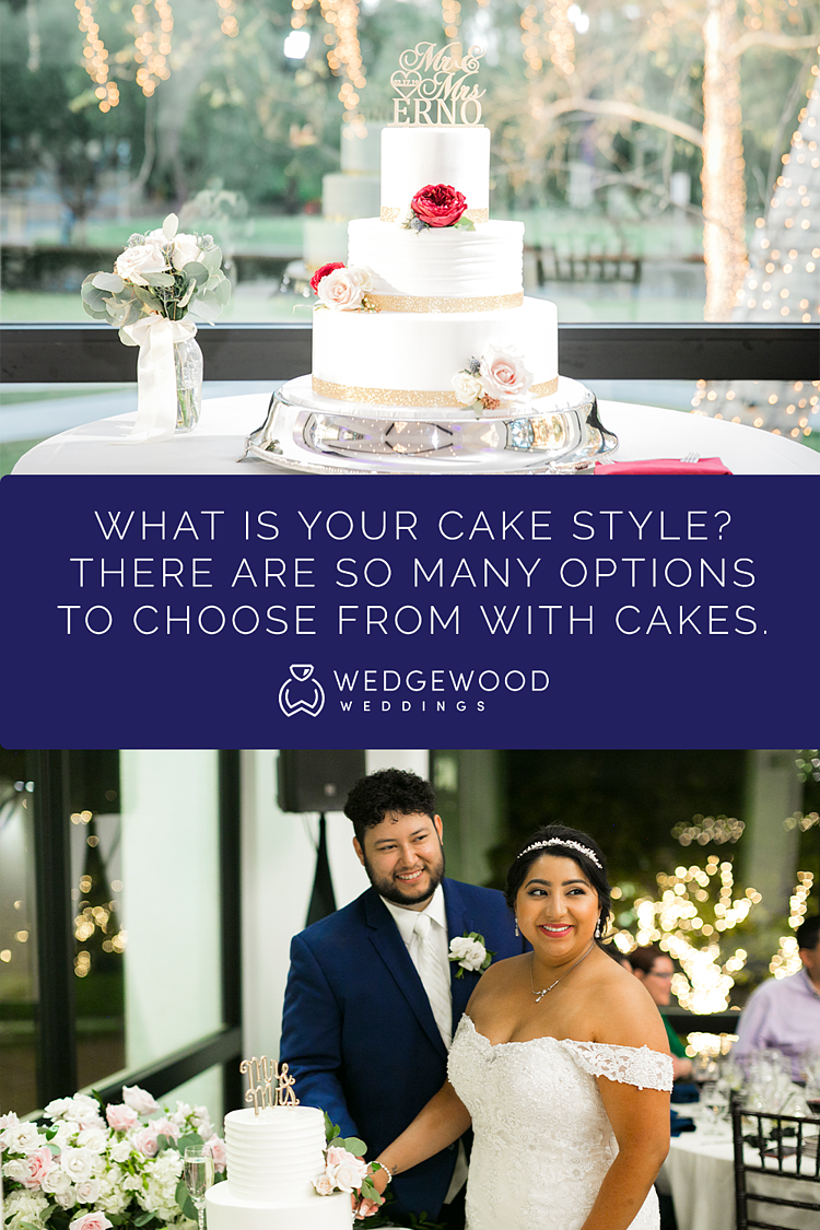 Glamorous + Gorgeous Cake-Inspiration! Just like so many elements of weddings these days, wedding cakes are a chance to inject a little fun and personality into your day. But likewise, that makes it harder to decide which wedding cake style is the one for you.