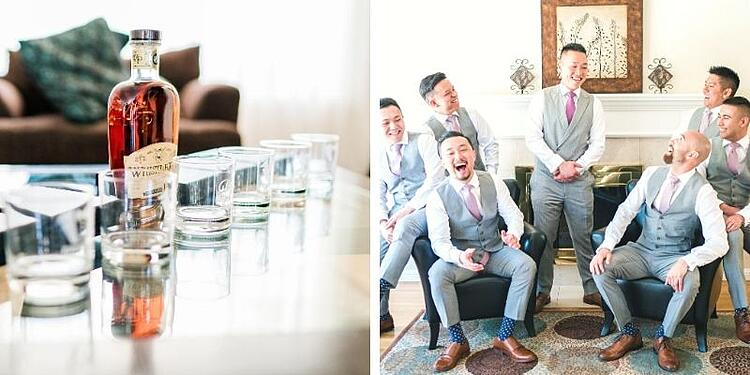 Groom and Groomsmen Getting Ready at Stonetree Estate