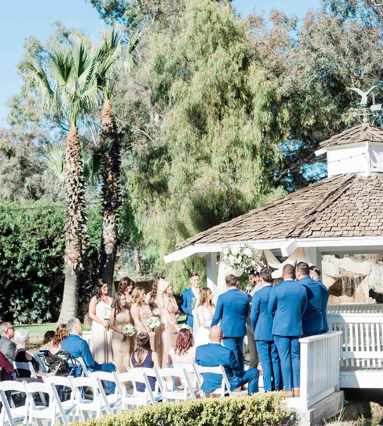 Outdoor Gazebo Wedding Ceremony in Menifee, CA