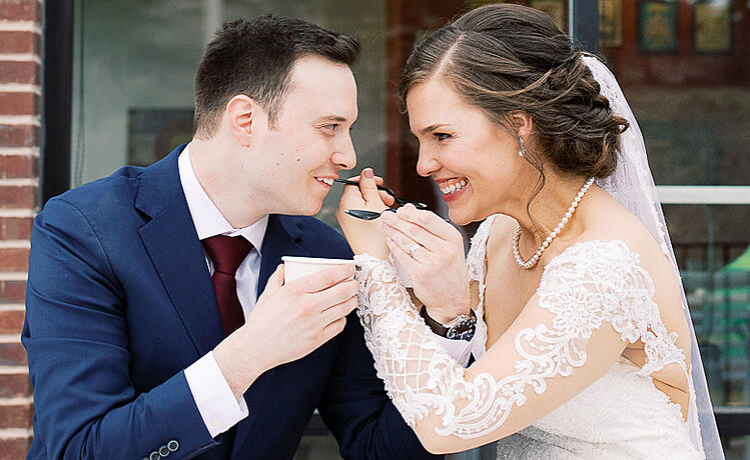 Dana & Jameson's Froyo Photo Shoot Pre-Wedding | Wedgewood. Weddings