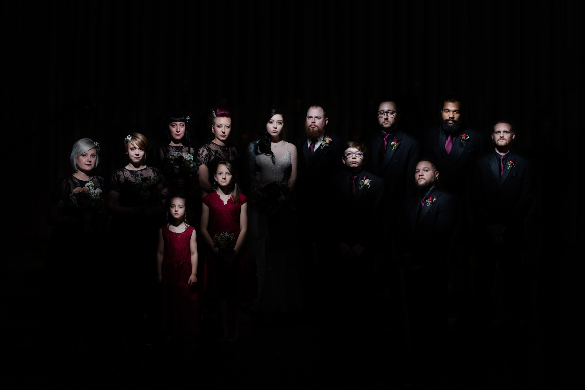 Gothic Themed Family Portrait - Black Forest by Wedgewood Weddings