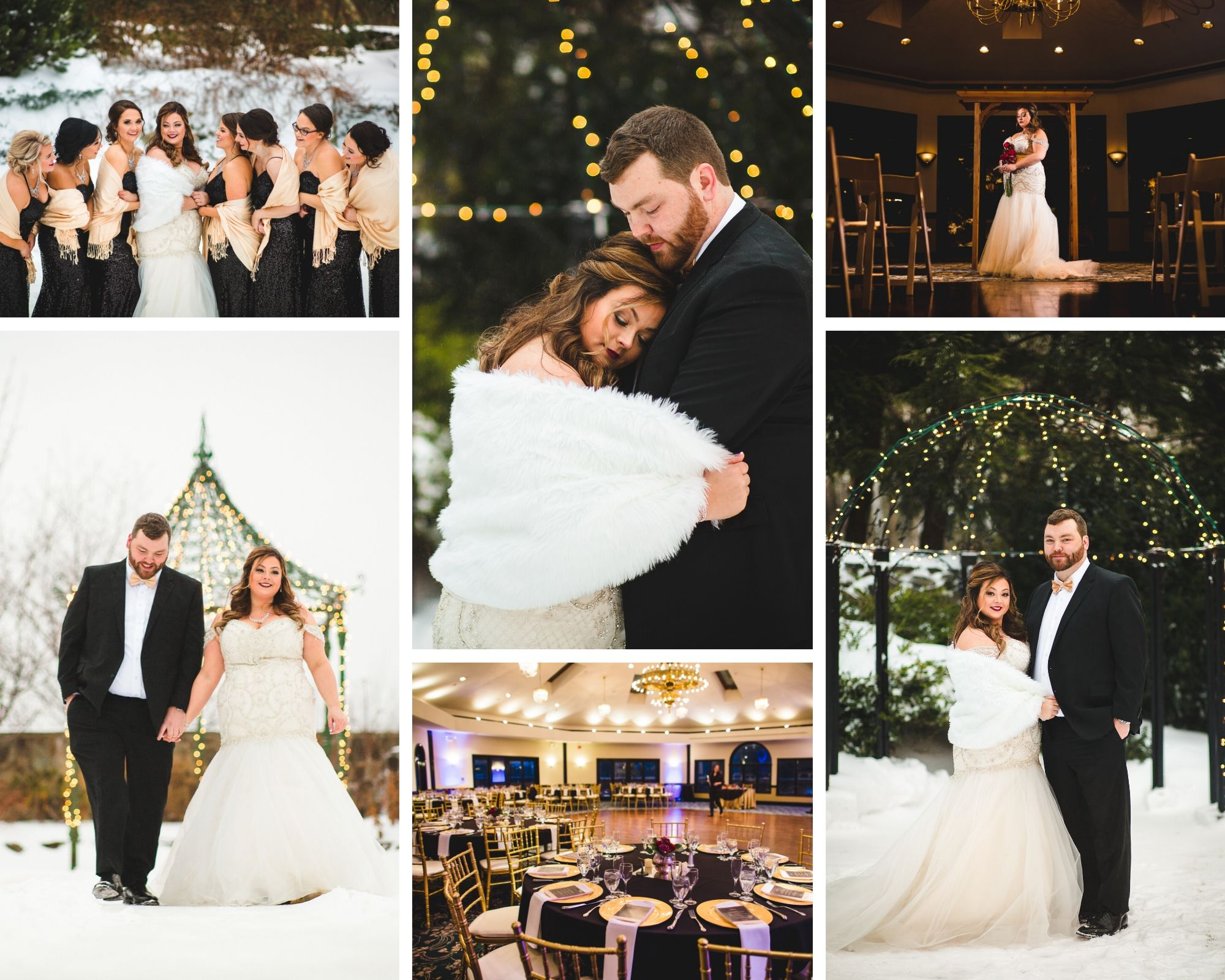 Glamorous Winter Wedding in New England