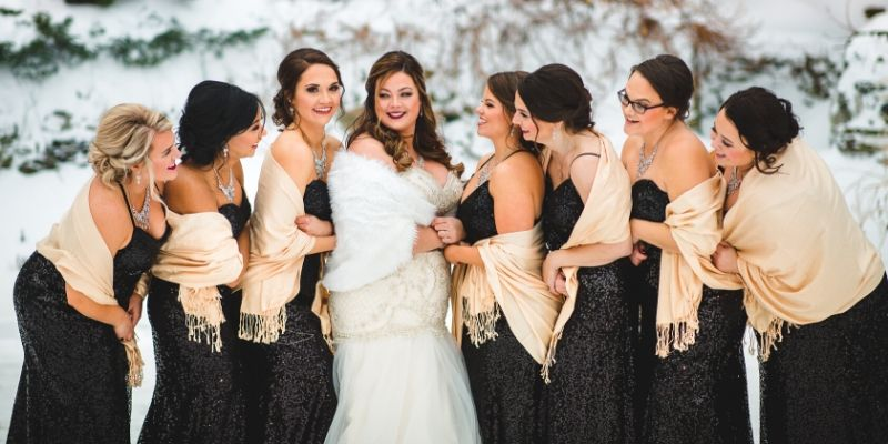 winter wedding at Granite Rose by Wedgewood Weddings