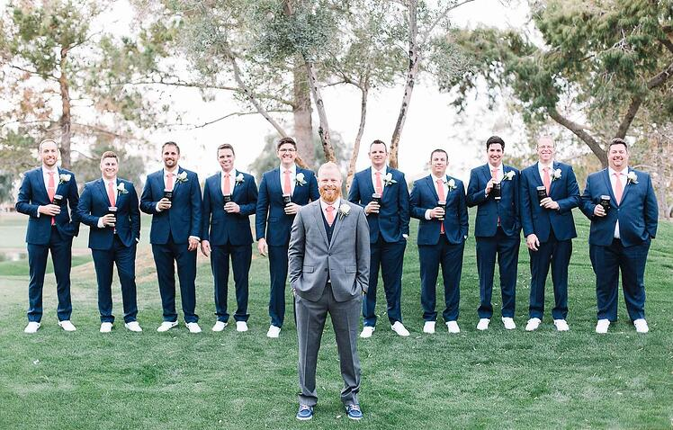 Groomsmen With Sneakers at Foggy Arizona Wedding