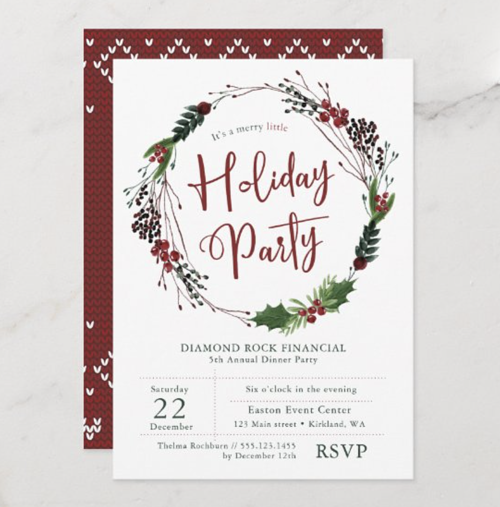 Holiday Party Invitations from Zazzle