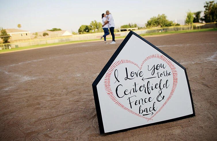 Creative Baseball-Themed Wedding