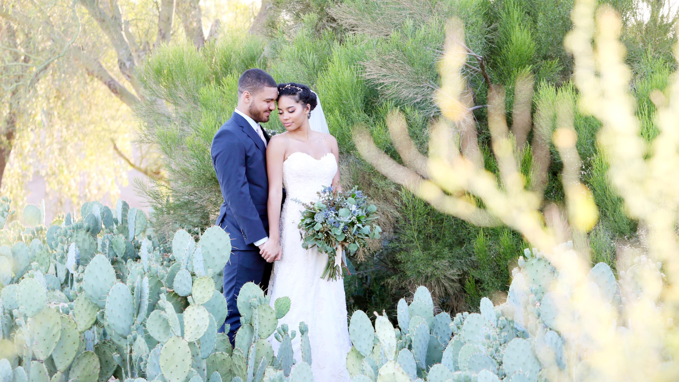 Bride & Groom | Cactus Garden | Memories by Karen | Palm Valley by Wedgewood Weddings