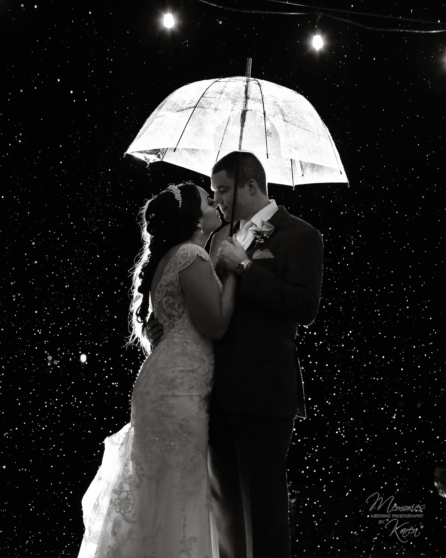 Bride & Groom Rain Photograph | Memories by Karen | Arizona Weddings