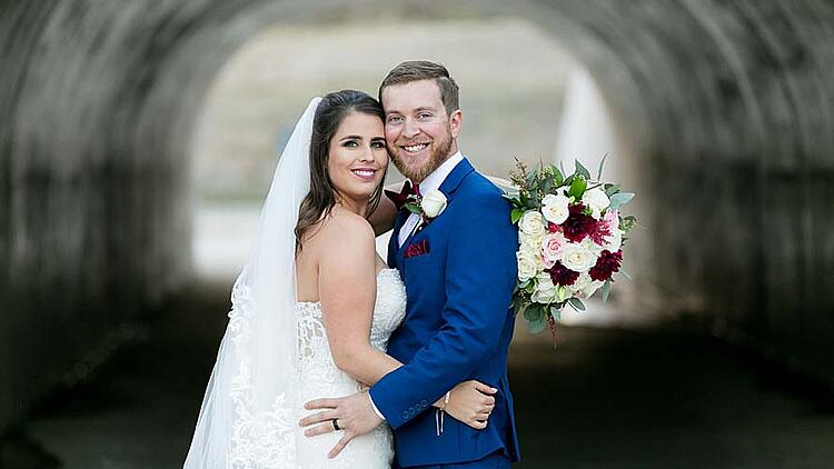 Bright Blue Wedding Suit at The Retreat