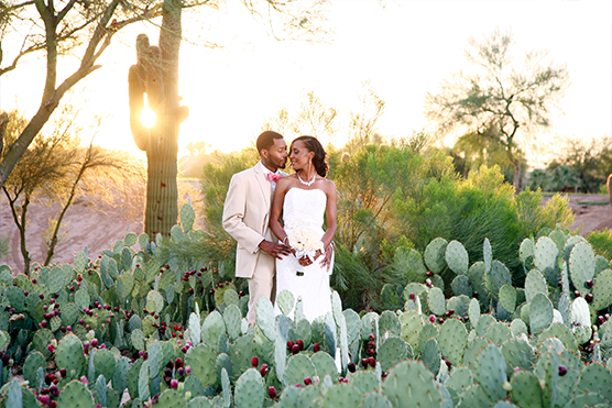 Bride Groom Cactus Garden at Palm Valley | Wedgewood Weddings