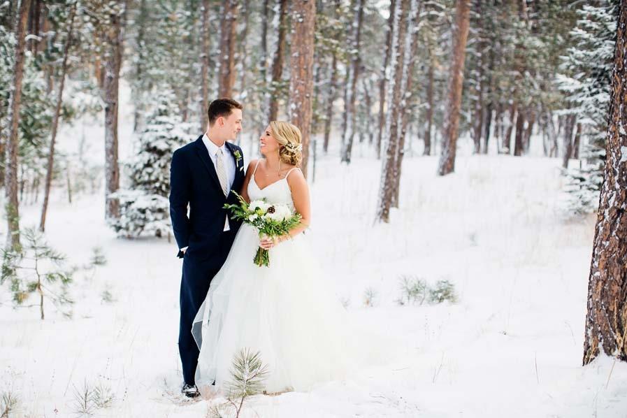 A Beautiful Snowy Wedding at Black Forest