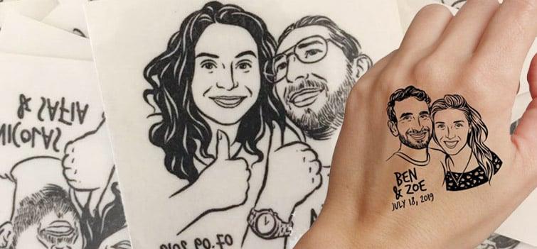 Temporary Tattoo idea wedding favor