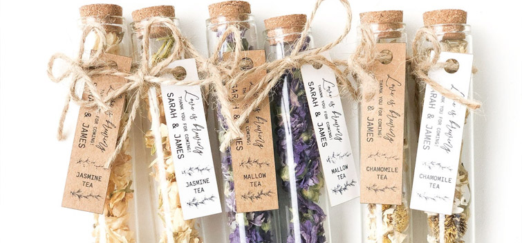 Wedding favor tea from Etsy