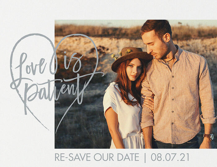 Patience | Change The Date - Front | Invitations by Wedgewood
