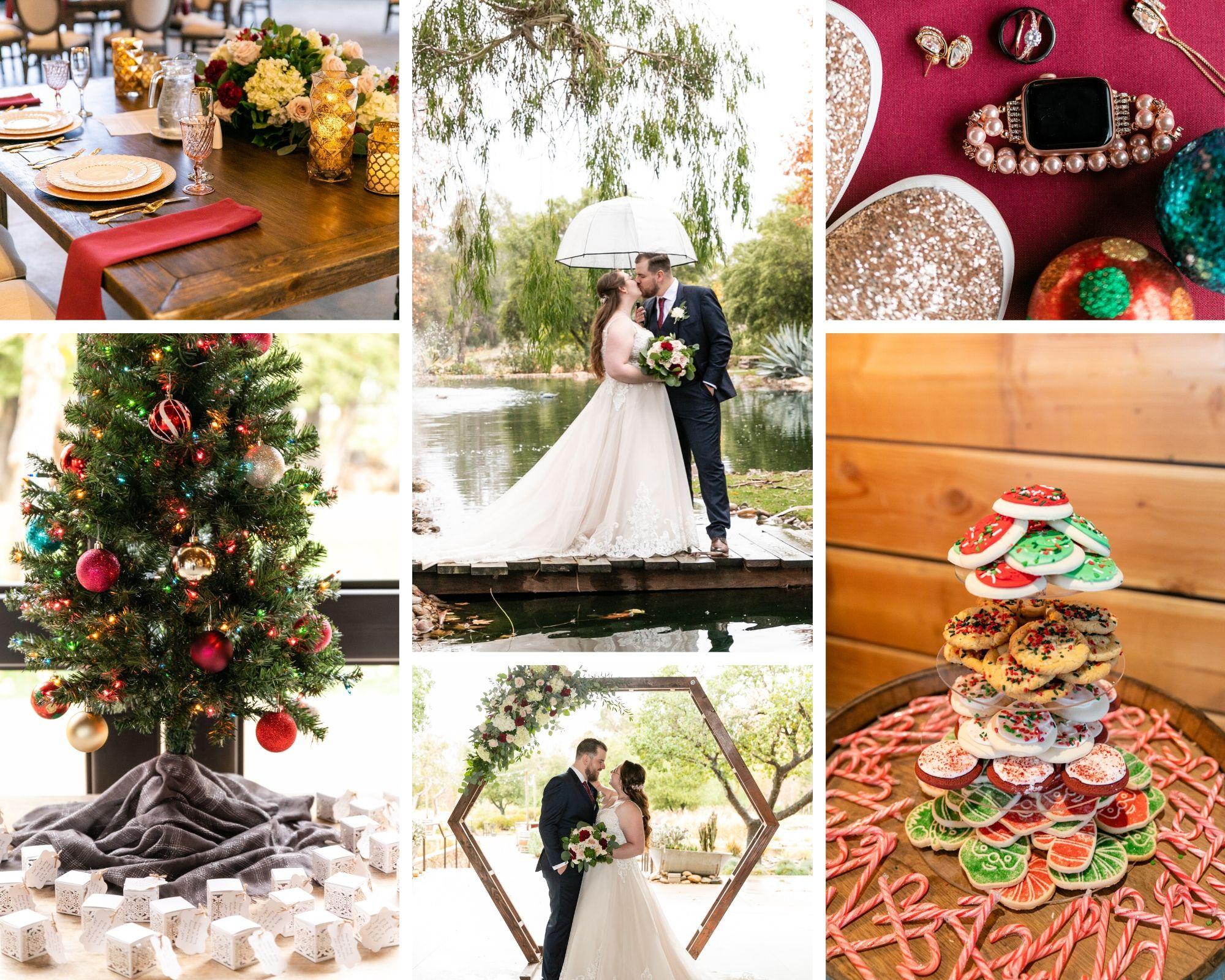 A beautiful Christmas-Themed Wedding at Galway Downs