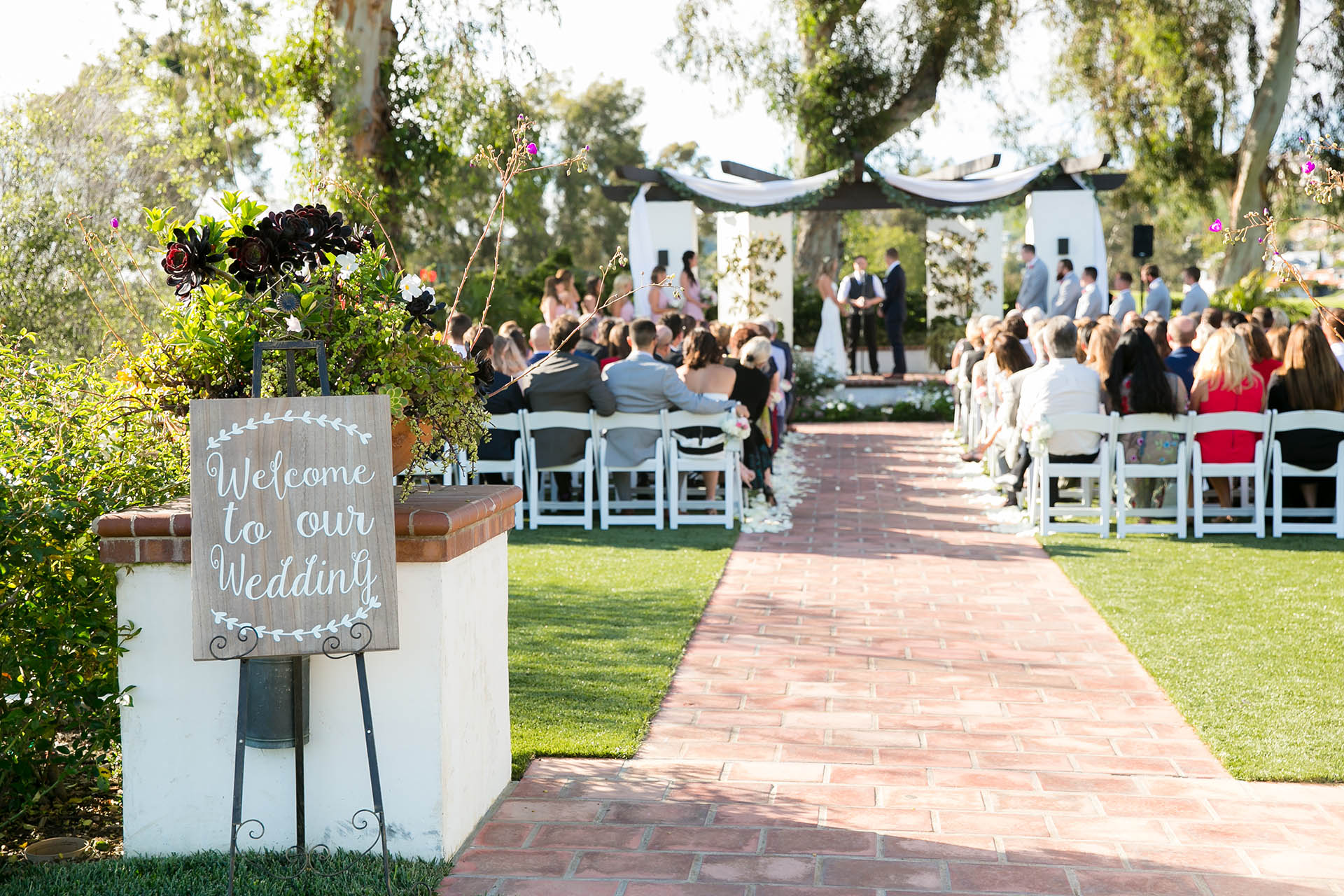 Outdoor ceremony site with plenty of rustic charm - Wedgewood Weddings San Clemente – Orange County