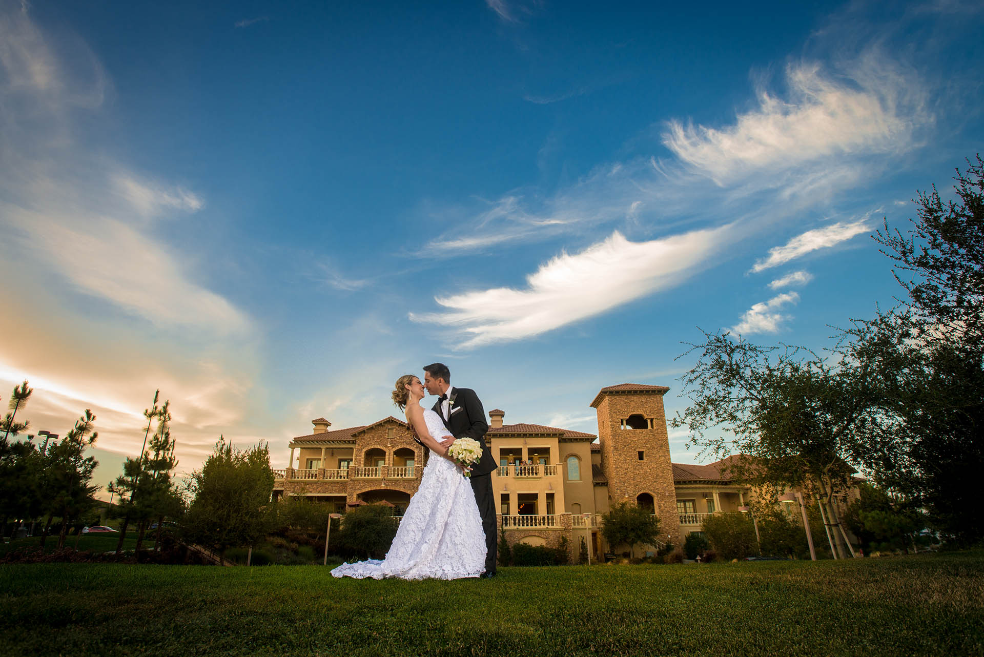 Grand Clubhouse with Mediterranean Architecture - Wedgewood Weddings Vellano – Chino Hills