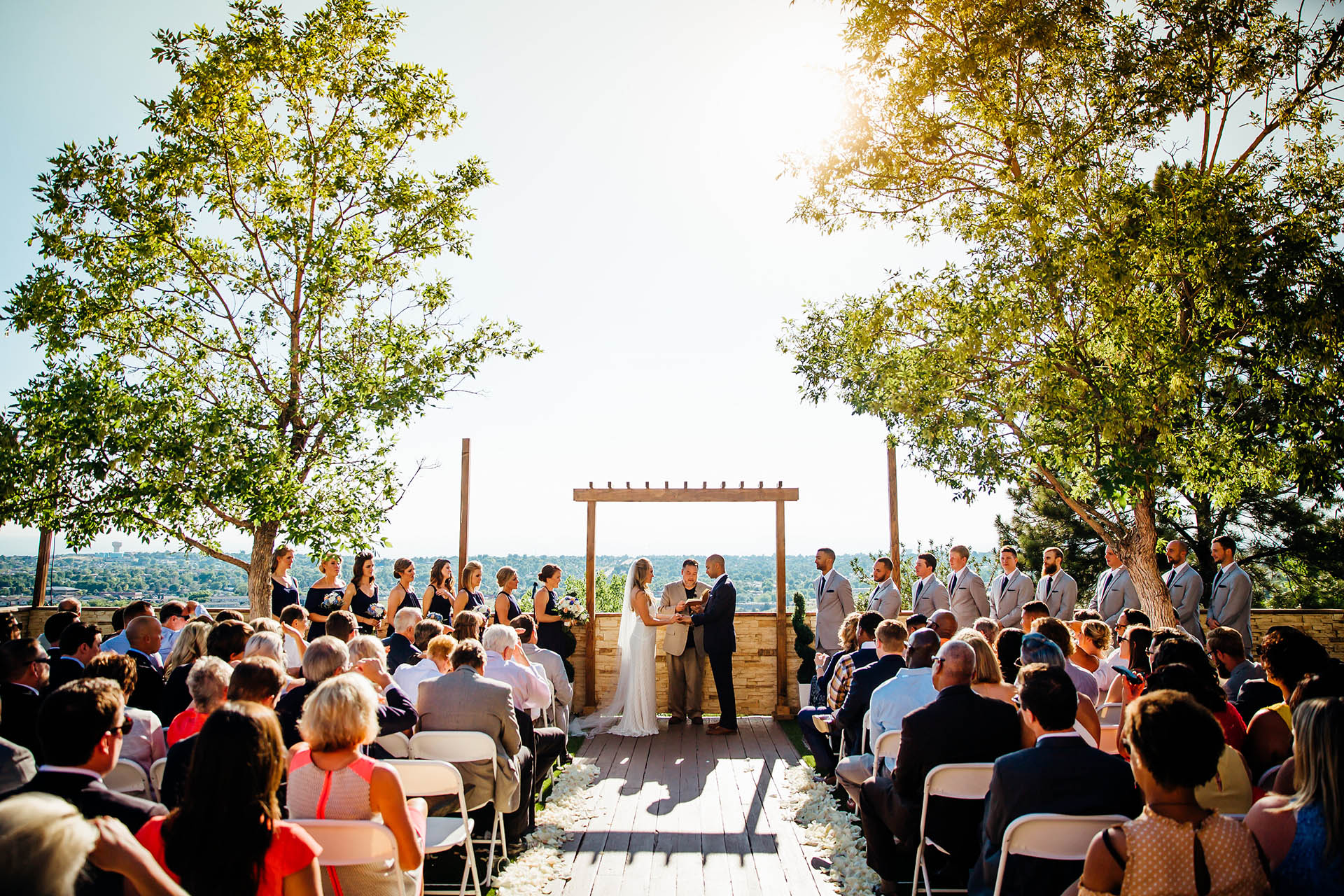 Incredible views from your terrace ceremony