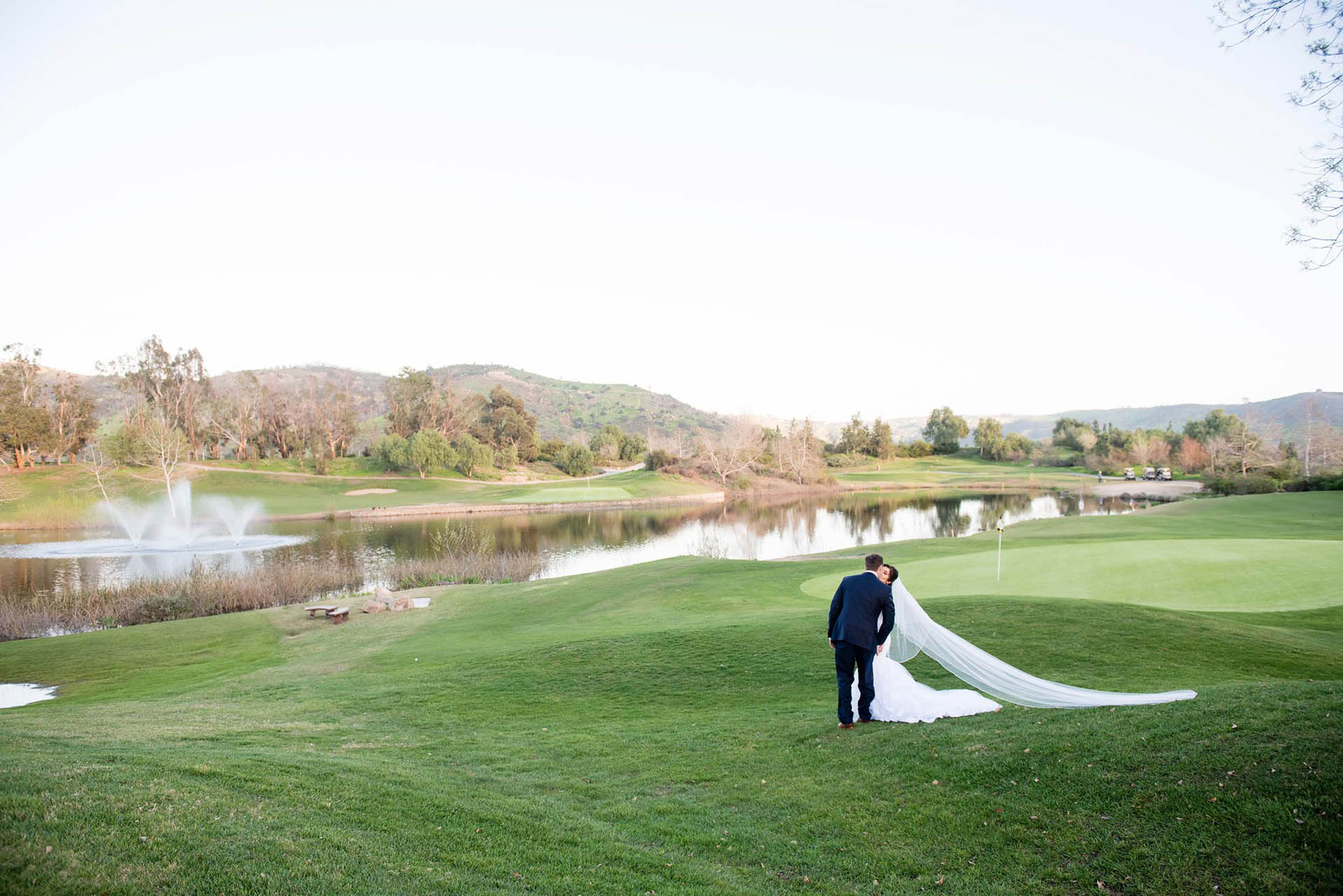 Gorgeous lake and golf course backdrop
