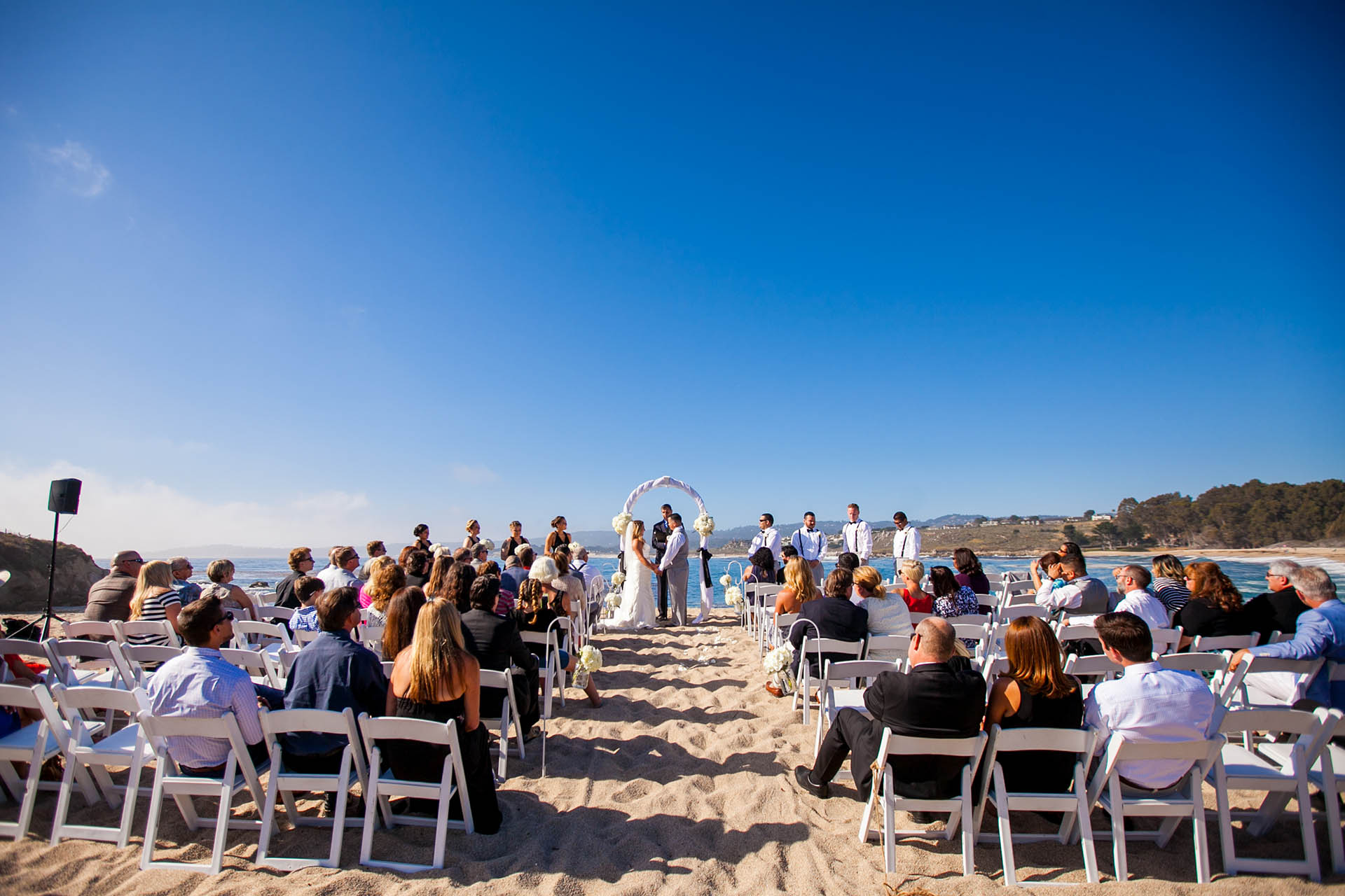Beach ceremony in the Monterey Peninsula
