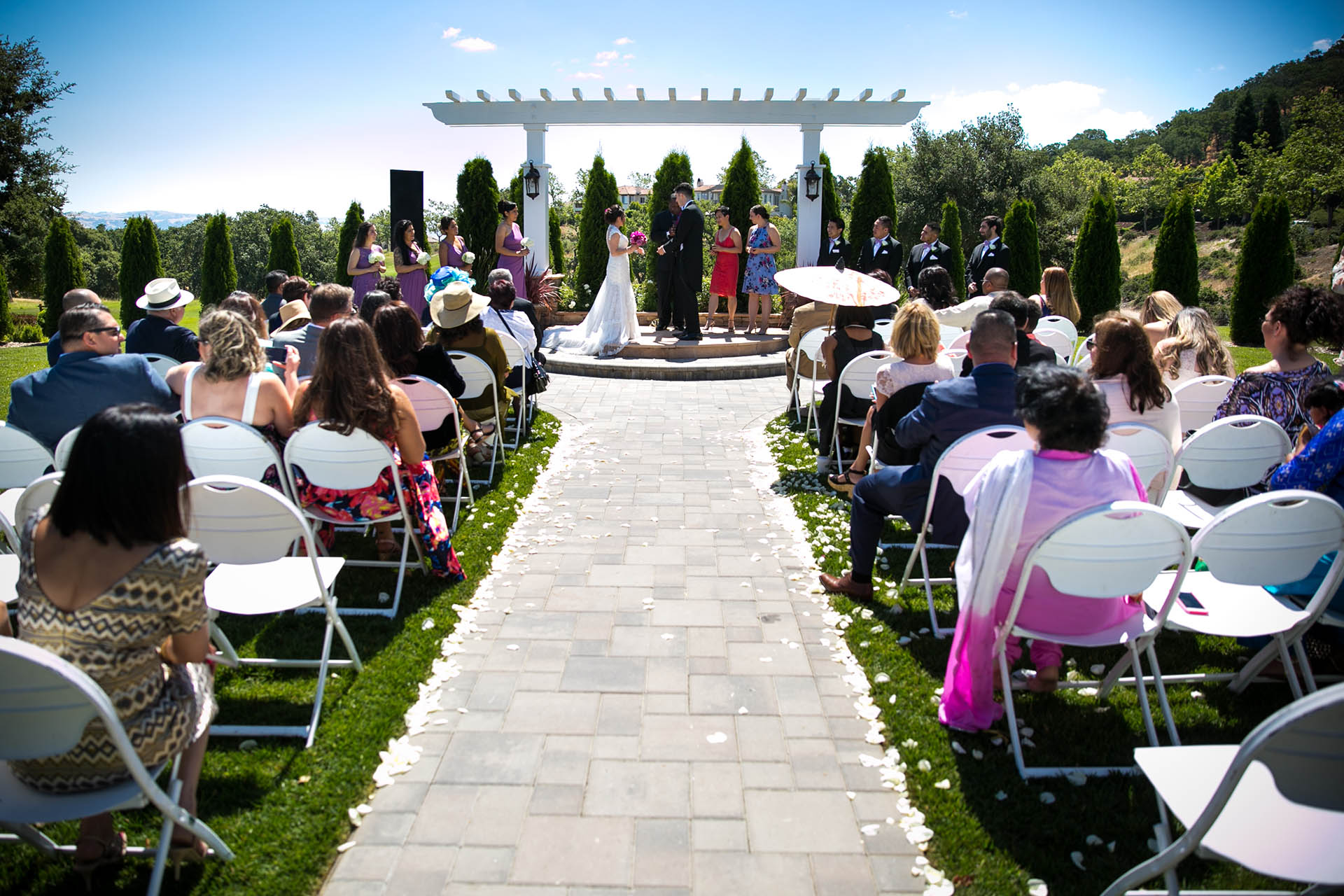A beautiful backdrop for your wedding ceremony