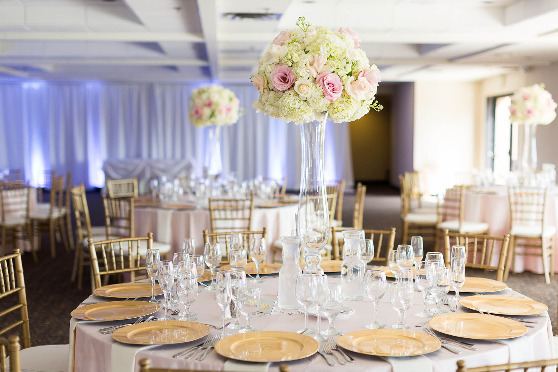 Gorgeous wedding reception in the Terrace Room