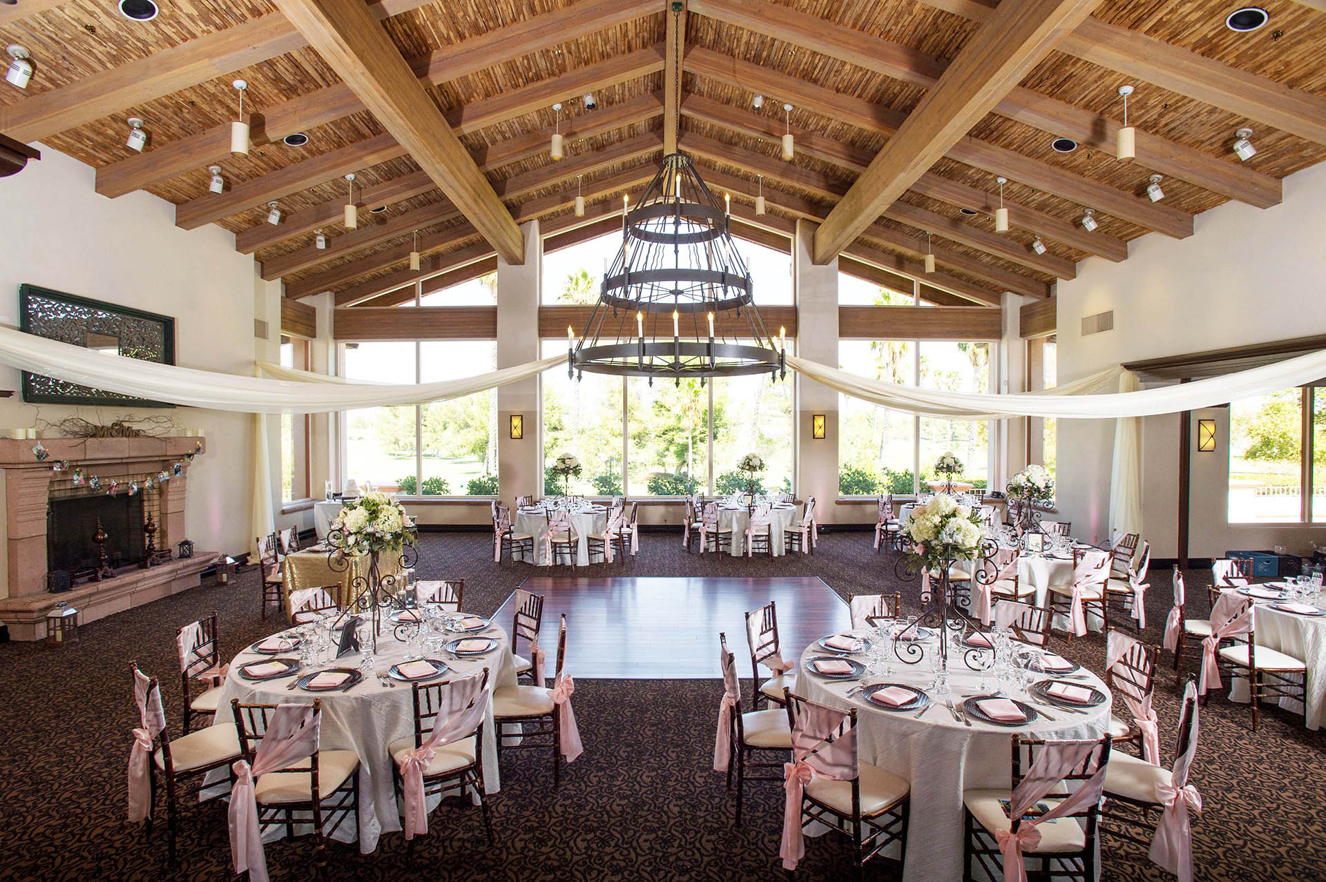 Wedding Reception With Rustic Touches
