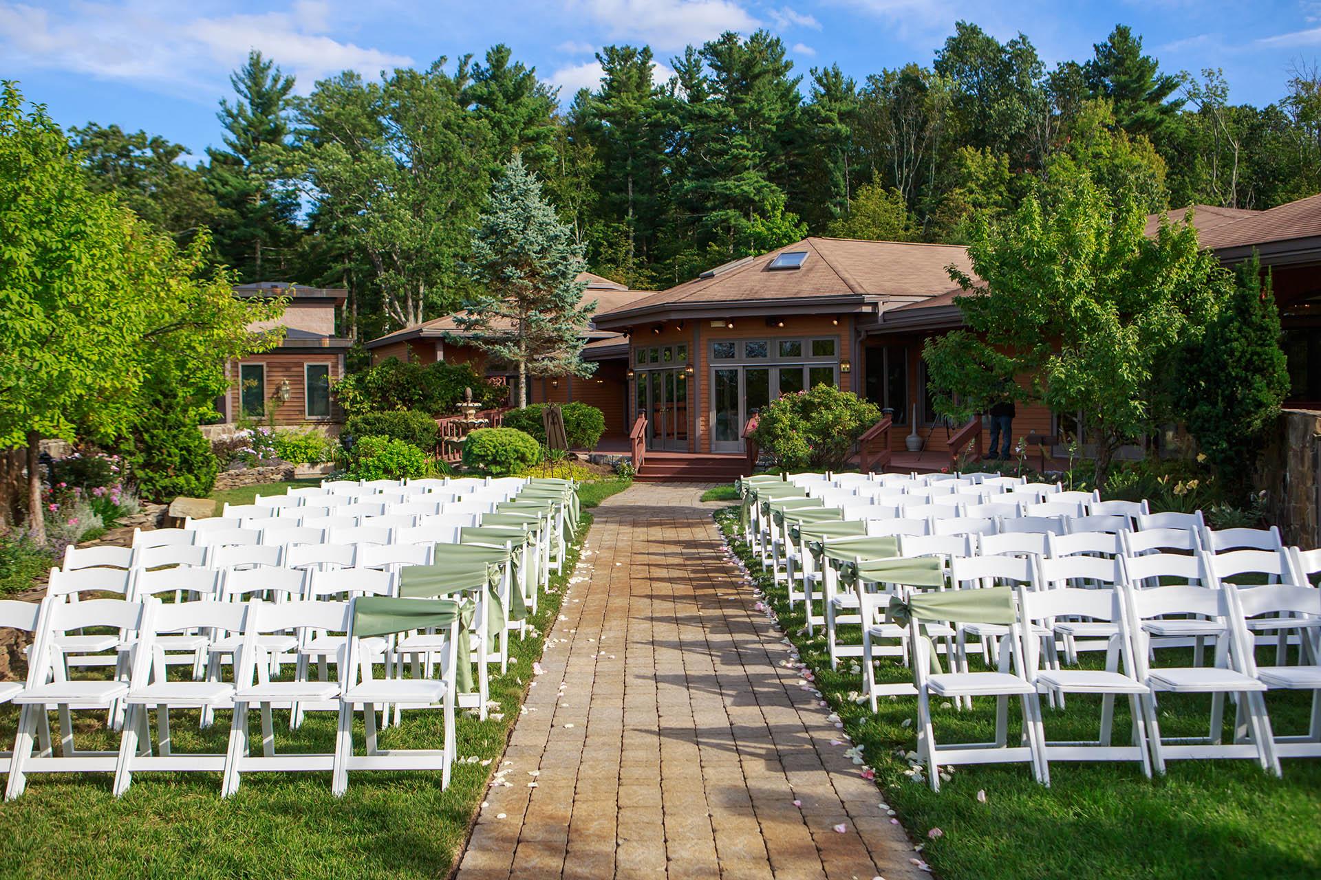 Beau Outdoor Weddings Ceremony At Wedgewood Weddings Granite Rose, Hampstead, NH