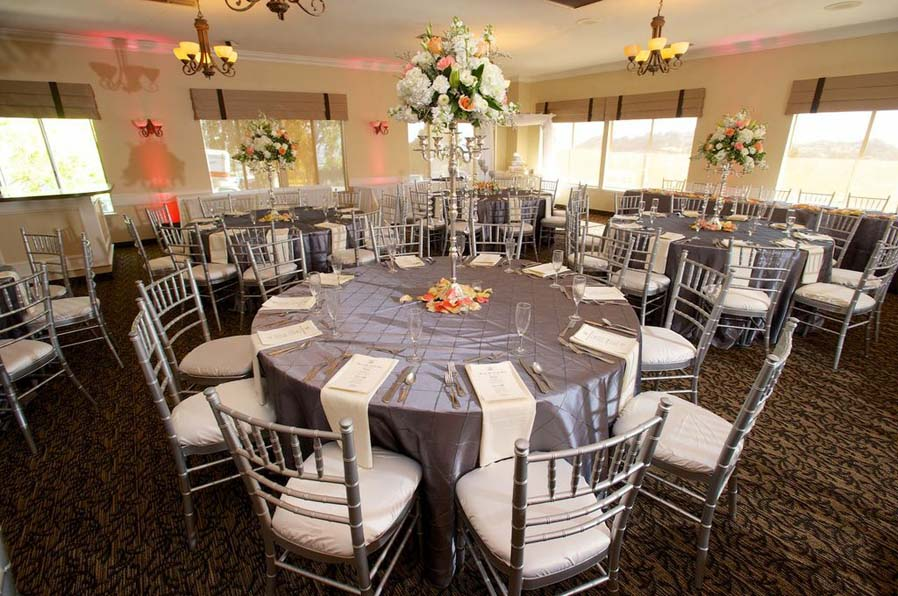 Elegant wedding reception in the Sunset room