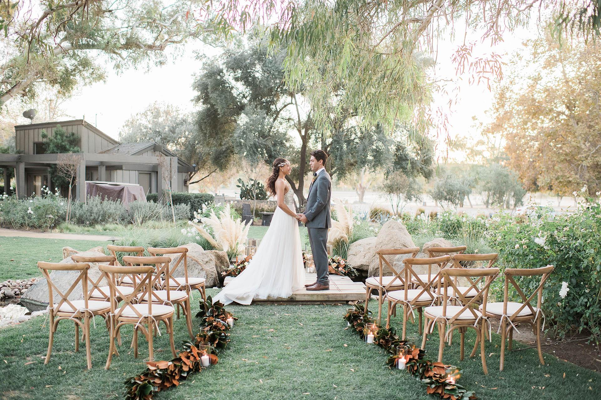 Rustic Outdoor Wedding Ceremony At Wedgewood Weddings Galway Downs Temecula California