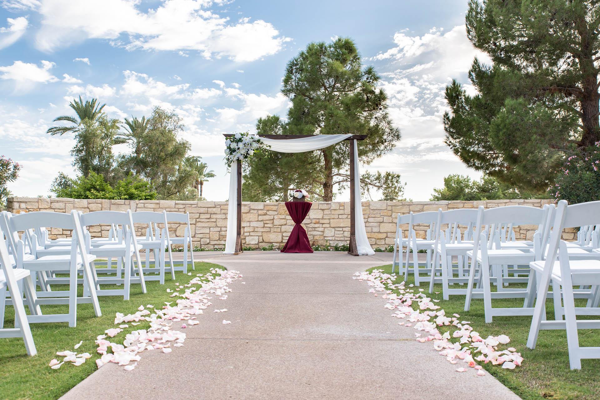Outdoor Wedding Ceremony At Wedgewood Weddings Ocotillo Chandler Az
