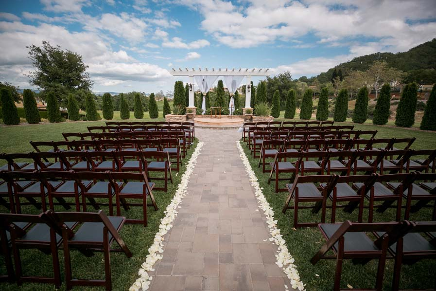 A beautiful ceremony backdrop