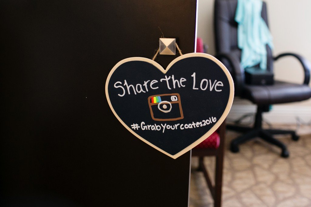 wedding sign for social media hashtag
