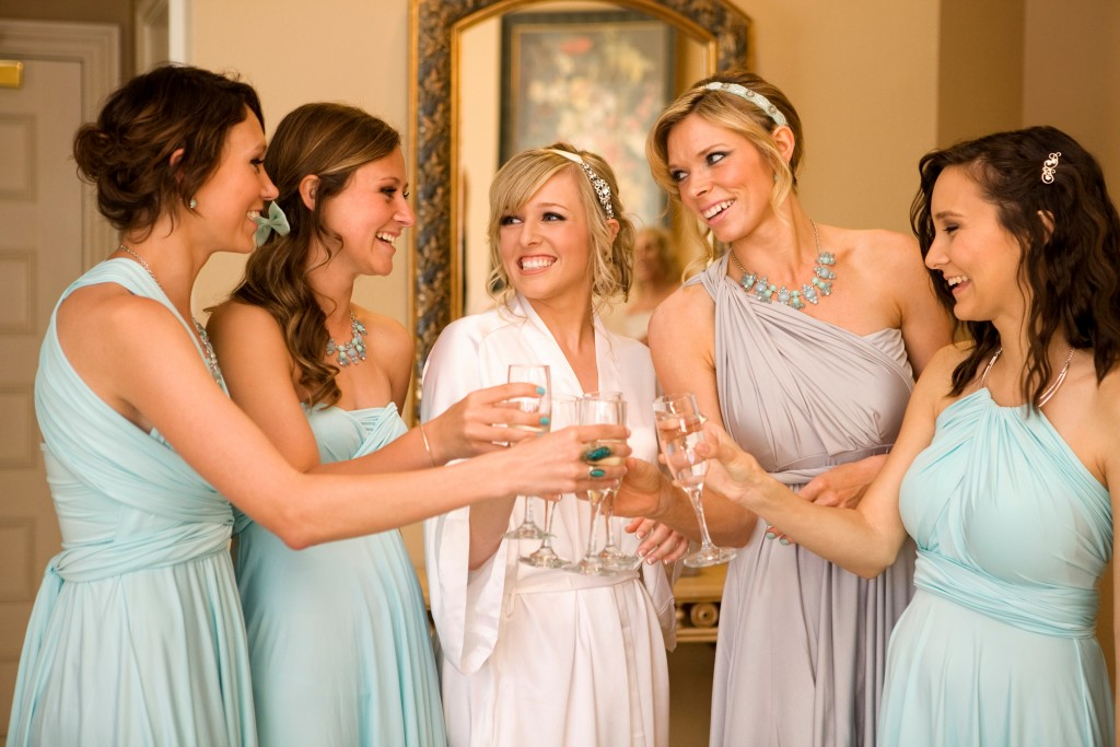 Bridal party at Sterling Hotel by Wedgewood Weddings