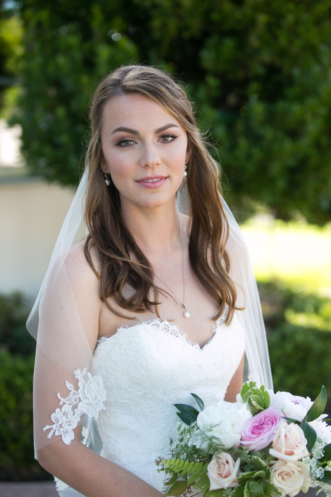 gorgeous bride shot with wedding bouquet