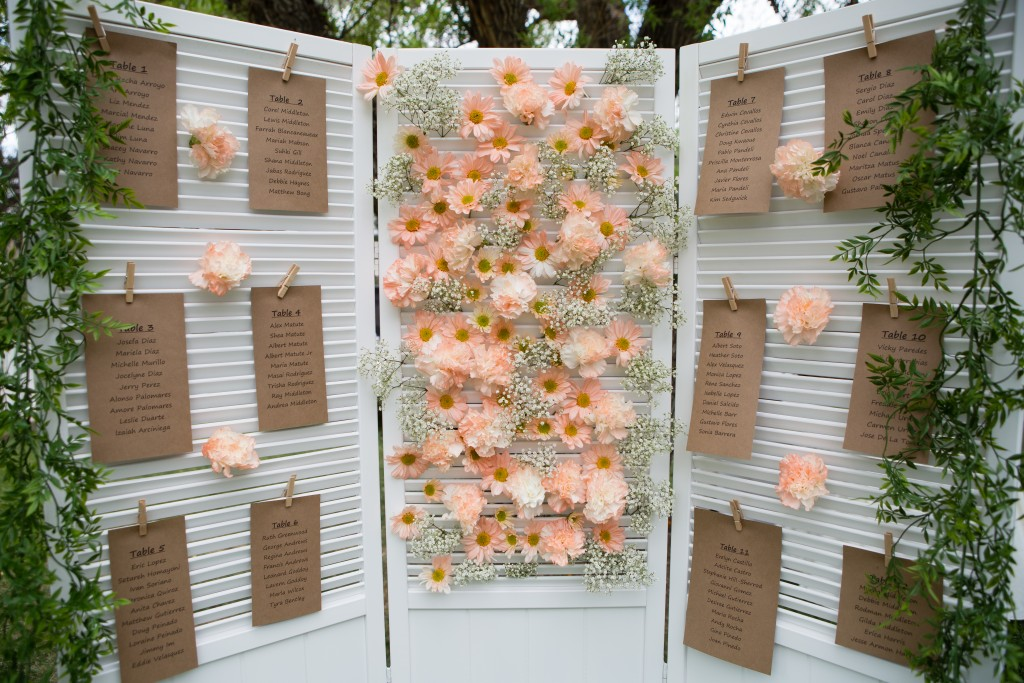 Wedgewood Weddings gorgeous wedding seating chart florals