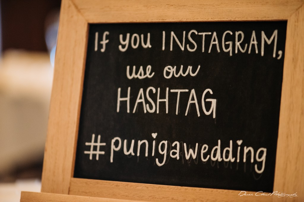 hashtag wedding sign