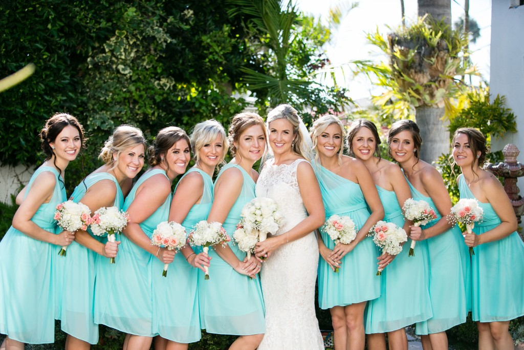 beautiful turquoise wedding in Southern California San Clemente