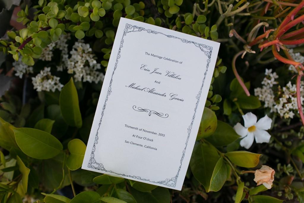 wedding invitation in greenery