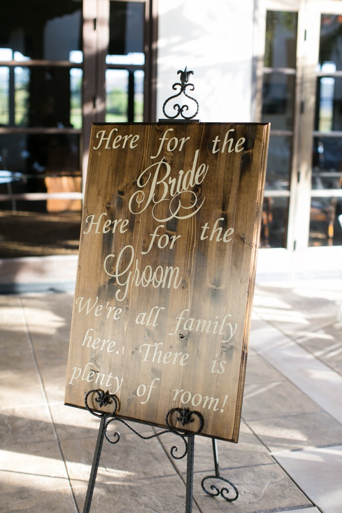 wedding decor wooden sign