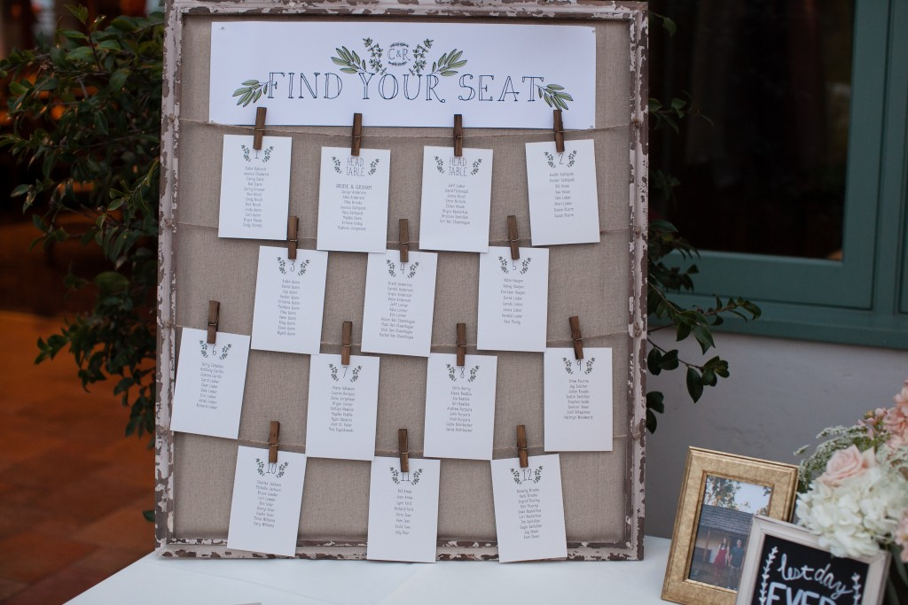 wedding seating arrangement idea to find your seat