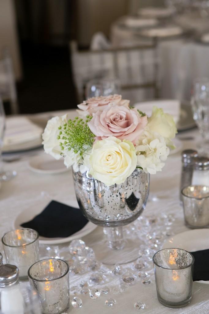 pale floral arrangement at Wedgewood Weddings