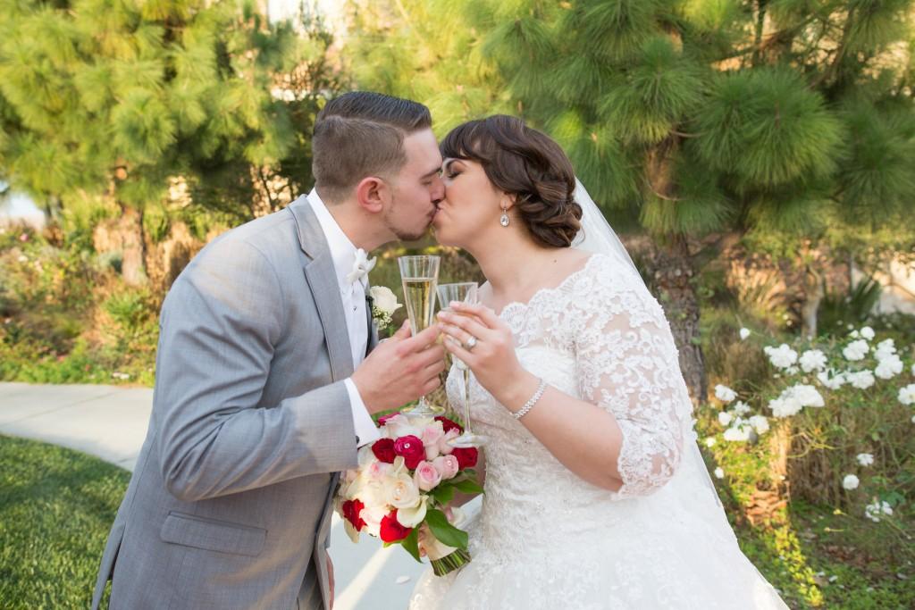 wedding toast outdoors in vellano ca