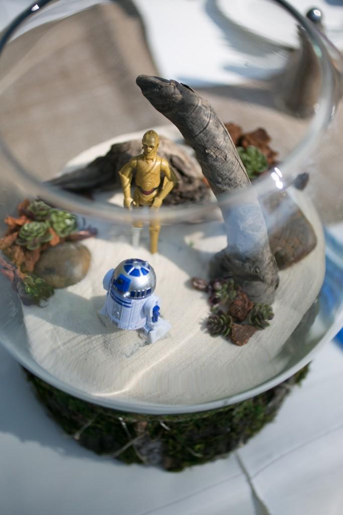star wars inspired wedding center pieces