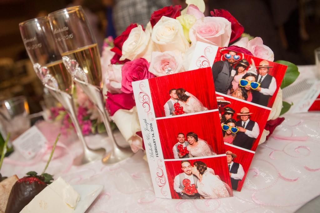 valentines theme photo booth photos