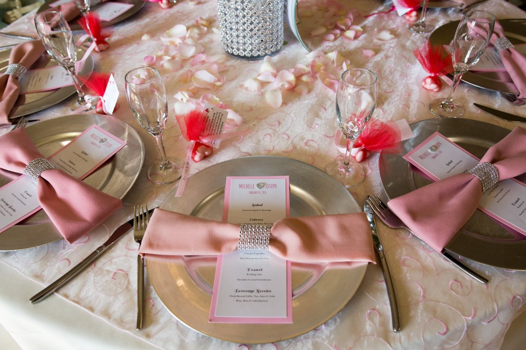 valentines theme wedding table décor southern california