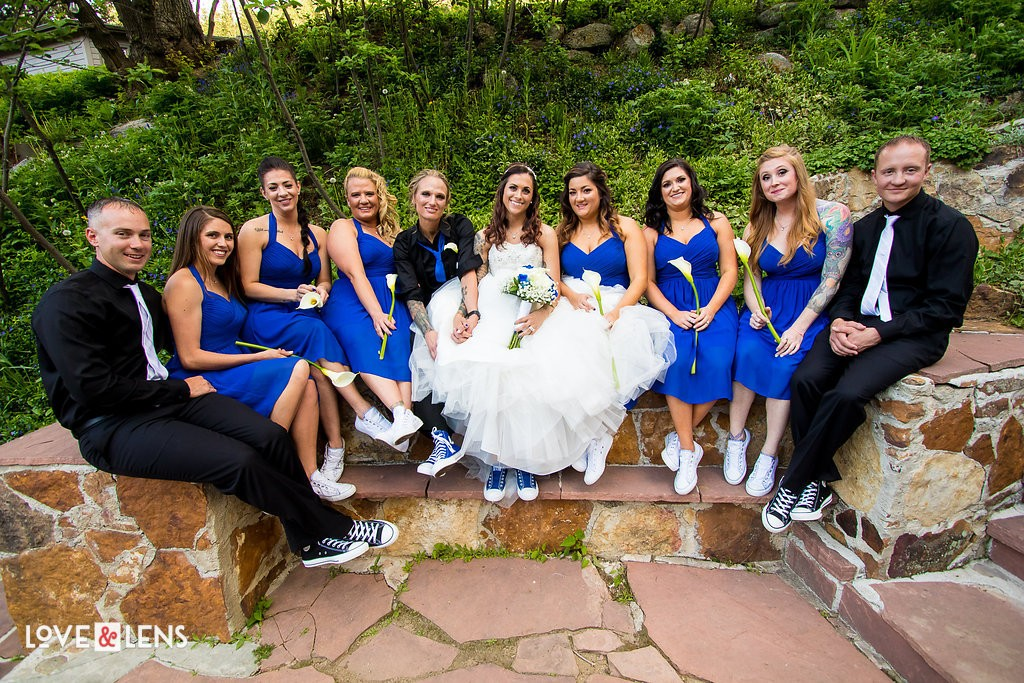 sneakers wedding party ideas