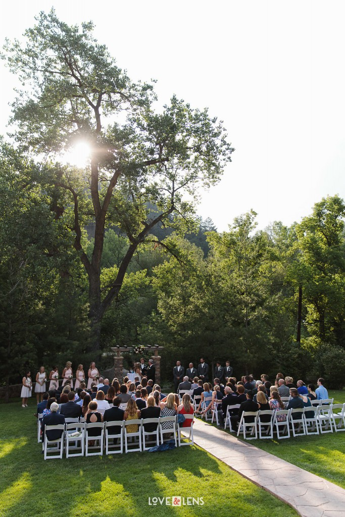 beautiful colorado wedding ceremony