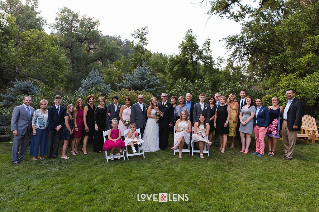outdoor wedding family